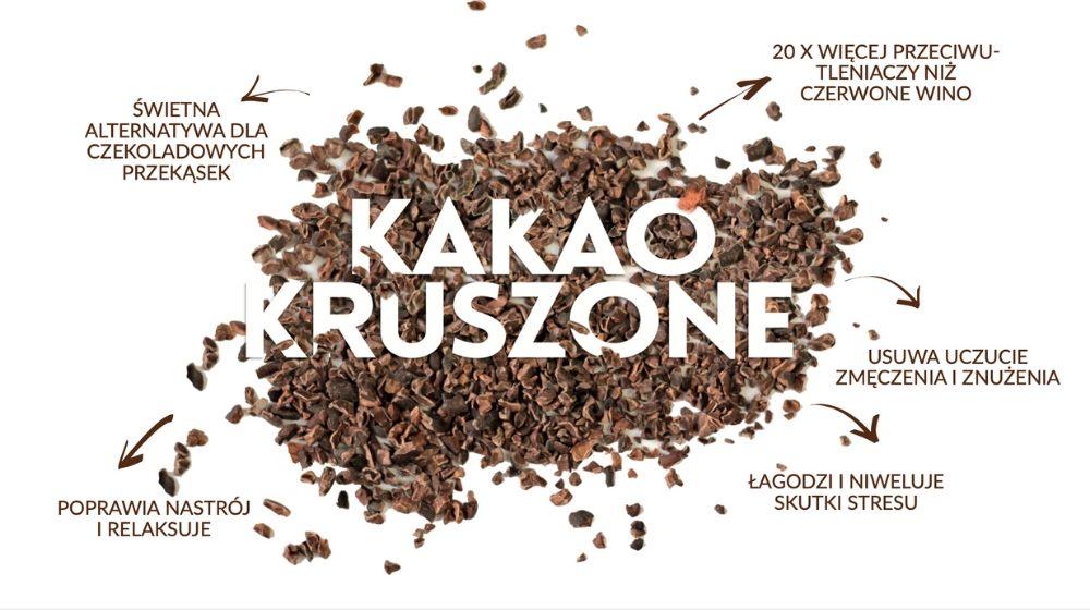 Kakao kruszone, surowe nasiona kakao, surowe ziarna kakao