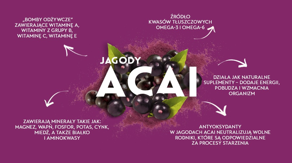 Jagody acai - superfoods bogate w antyoksydanty