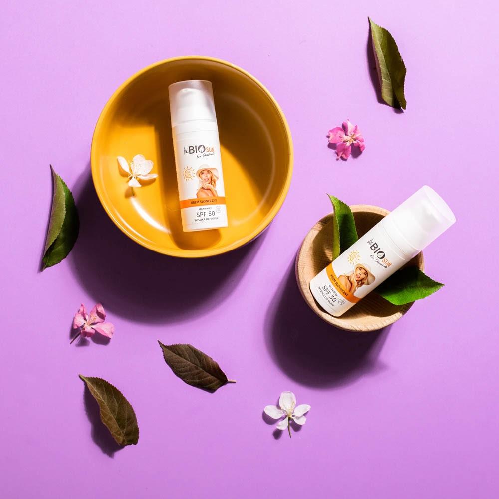Naturalny krem z filtrem 30 i 50 dla wrażliwej skóry od BeBio